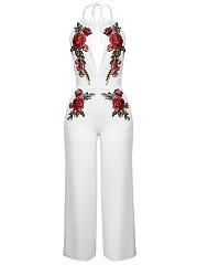 Halter-Backless-Embroidery-Hollow-Out-Glamorous-Wide-Leg-Jumpsuit