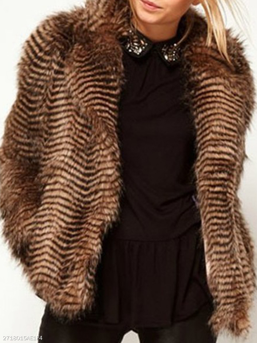 Leopard  Long Sleeve Coats