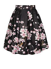 Vintage-Floral-Printed-Swing-Midi-Skirt