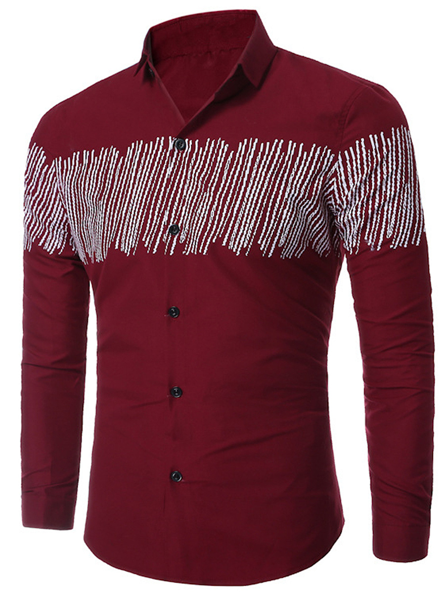 Special Printed Men Long Sleeve Shirt