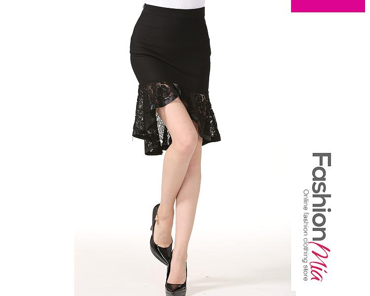 material:polyester, embellishment:ruffled hem, pattern_type:plain,plain, occasion:date, bottom_silhouette(skirts):mermaid, length:high-low, waistlengthhip