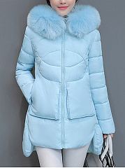 Hooded-Patch-Pocket-High-Low-Quilted-Plain-Padded-Coat