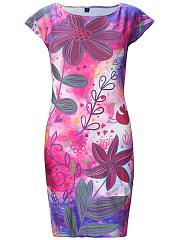 Round-Neck-Delightful-Printed-Bodycon-Dress