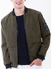Band-Collar-Pocket-Letters-Men-Bomber-Jacket
