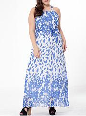 Absorbing-Spaghetti-Strap-Printed-Chiffonplus-Size-Maxi-Dress