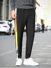 Special-Color-Block-Slim-Leg-Mens-Casual-Pants