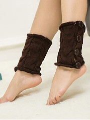 Hollow Out Knitting Boots Short Leg Warmers