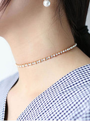 Faux Crystal Chic Chocker For Women
