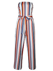 Strapless-Vertical-Striped-Bowknot-Wide-Leg-Jumpsuit