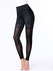See-Through Hot Plain High-Rise Legging