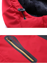 Detachable Hooded Men Fleece Lined Pocket Coat