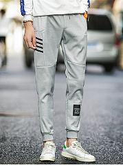 Mens-Striped-Elastic-Waist-Pocket-Casual-Jogger-Pants