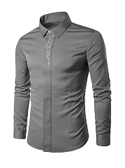 Refined Regular Fit Embroidery Men Shirt