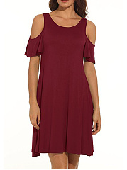 Round-Neck-Plain-Shift-Dress