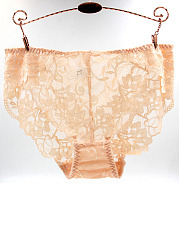 Plus Size Sexy Lace Breathable Panty