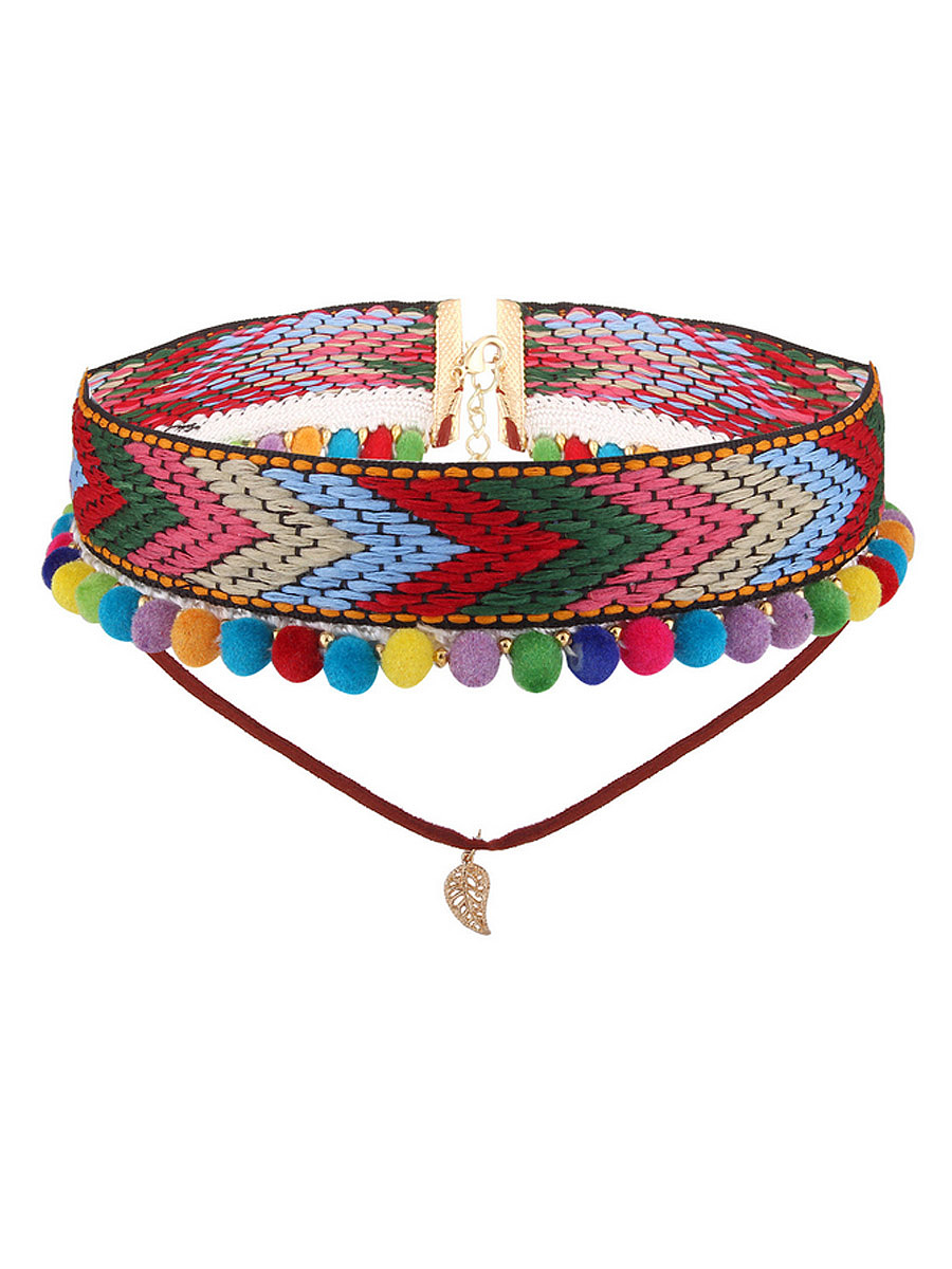 Bohemia Weaving Multicolor Necklace