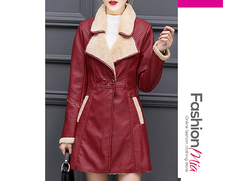 gender:women, hooded:no, thickness:thick, brand_name:fashionmia, outerwear_type:coat, style:casual,fashion,japan & korear, material:pu, collar&neckline:lapel, sleeve:long sleeve, more_details:decorative button, pattern_type:plain, supplementary_matters:all dimensions are measured manually with a deviation of 2 to 4cm., occasion:basic,daily,date,nightout, season:autumn,winter, package_included:top*1, lengthshouldersleeve lengthbustwaist