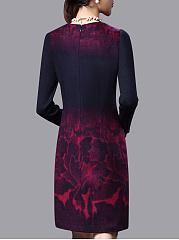 robe moulante imprim en laine longueur mi cuisse patchwork. Black Bedroom Furniture Sets. Home Design Ideas