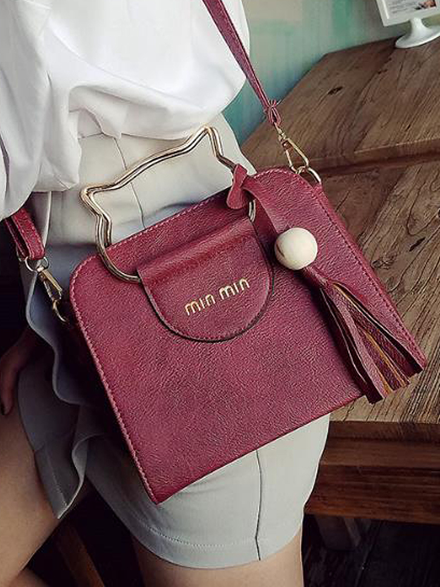 New Fashion Cat Circle Fringe Decoration PU Hand Bag