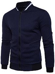 Band-Collar-Pocket-Embossed-Men-Jacket