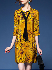 Exquisite-Printed-Removable-Tie-Shift-Dress
