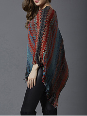 Collarless  Printed Cape