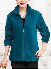 Solid-Casual-Sport-Outdoor-Fleece-Coat