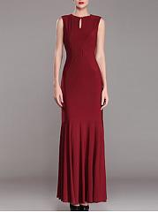 Round-Neck-Plain-Maxi-Dress