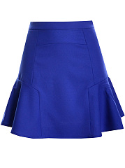 Basic-Flounce-Hem-Plain-A-Line-Mini-Skirt