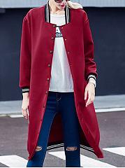 Single-Breasted-Plain-Striped-Long-Sleeve-Coats