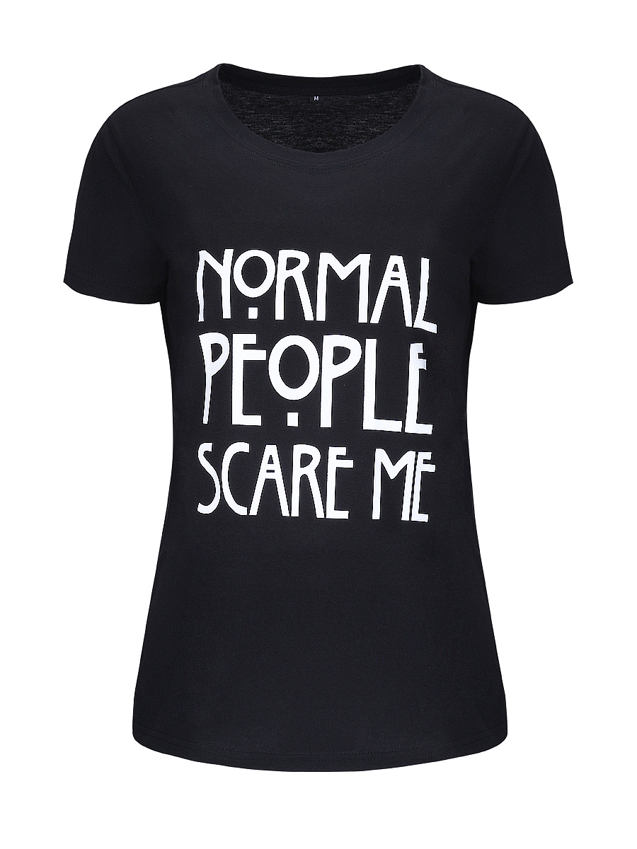Normal People Scare Me Short Sleeve T-Shirt