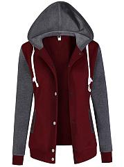Hooded-Color-Block-Pocket-Coat