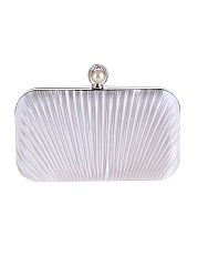 Embossed Evening Pearl Clutch Bag
