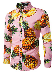 Pineapple-Printed-Men-Long-Sleeve-Shirts