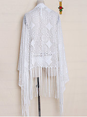 See Through Sexy Decrotive Lace Plain Tunic For Women