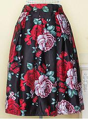 Gorgeous-Floral-Printed-Flared-Midi-Skirt
