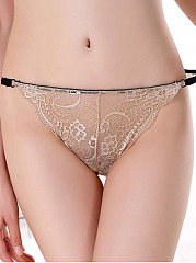 Sexy Lace-Trim Low Rise Lure Panties