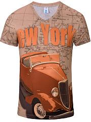 Printed  Short Sleeve Short Sleeves T-Shirts