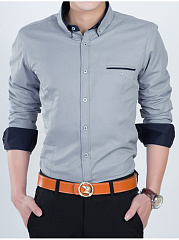 Button-Down-Collar-Contrast-Trim-Men-Shirts
