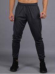 Mens-Sport-Solid-Elastic-Waist-Jogger-Pants