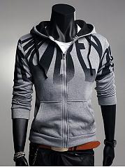 Hooded-Patch-Pocket-Gradient-Letters-Men-Coat