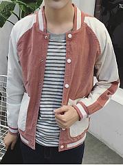 Men-Band-Collar-Patch-Pocket-Color-Block-Bomber-Jacket