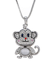 Cartoon Monkey Shape Pendant Necklace