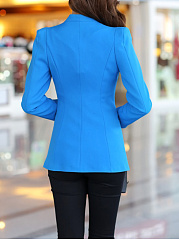 Trendy Designed Collarless Plain Blazer
