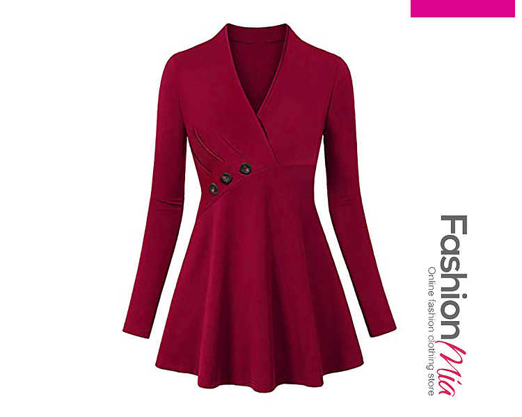 thickness:regular, brand_name:fashionmia, style:elegant,fashion, material:polyester, collar&neckline:v-neck, pattern_type:plain, length:mini, how_to_wash:cold gentle machine wash, supplementary_matters:all dimensions are measured manually with a deviation of 2 to 4cm., dress_silhouette:flared, package_included:dress*1, lengthsleeve lengthbust