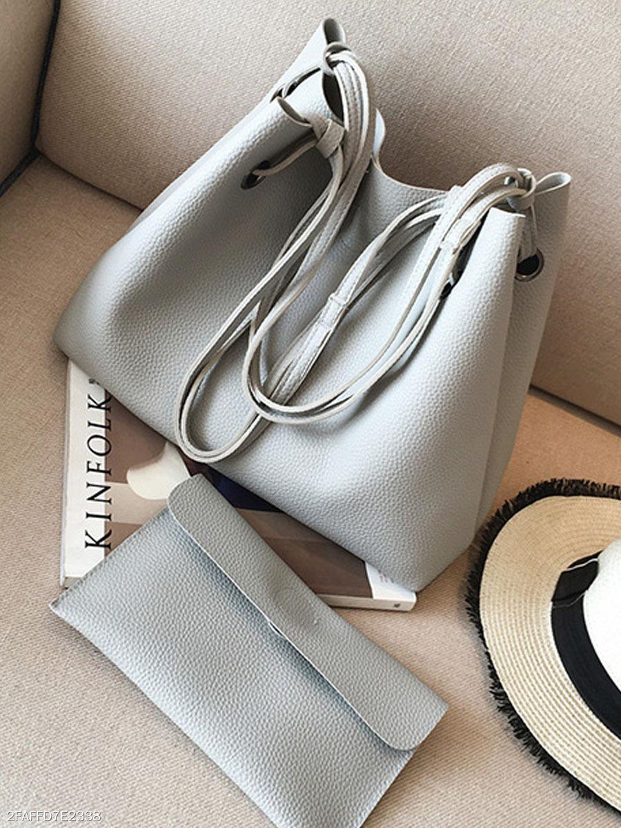 59fbeb5489a1 Two-Piece Shoulder Bag And Handbag - fashionMia.com