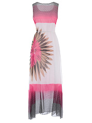 Square Neck  Bohemian Plus Size Midi & Maxi Dress