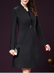 Plain Longline Single Button Pocket Trench Coat