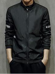 Band-Collar-Pocket-Letters-Patch-Men-Jacket