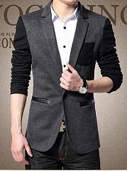 Modern-Color-Block-Men-Notch-Lapel-Single-Button-Blazer
